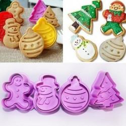 4db / Állítsa be a karácsonyi süti ... - 4db / szett karácsonyi süti kekszes dugattyúvágó forma fondant tortaforma