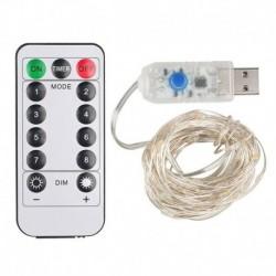 5M - USB - színes - 5 / 10M Firefly Micro Rice LED húr akkumulátorral működtetett rézhuzalos tündérfények Egyesült