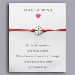 Iránytű - Szerencsés piros kötél varázskártya karkötők karperec pár kézzel készített barátság karácsonyi
