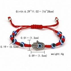 18-Palm 8 kék gyöngy - Szerencsés piros kötél kék gonosz szem kristály gyöngyös karkötő karperec varázsa kézzel