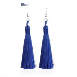 3 * kék - Divatbohém csepp dangle bojt kristály hosszú fülbevalók nőknek 2020 ékszerek