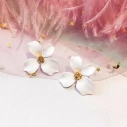 fehér - Csehország női kristálygyöngy virág fülbevaló csüngő csepp divat fülbevaló ékszerek