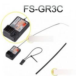 FlySky FS-GR3C GT3B GT2 2.4Ghz 3CH vevő Rc autó