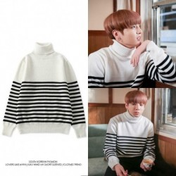 L - Jung Kook Bangtan Boys pulóver pulóver pulóver hosszú ujjú pulóver