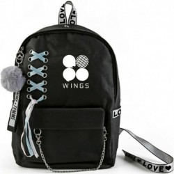 Fekete hátitáska - Wings album logóval - KPOP - BTS - Bangtan Boys