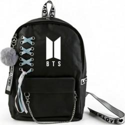 BTS-A * - BTS Bangtan Boys fekete hátizsák diákkönyvtáska SZERETNI MAGAD Válltáskákat