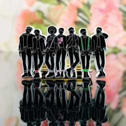 5cm - KPOP BTS Bangtan Boys RM Jin Metal SUGA Jimin V Badge Pin Limit Sa