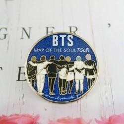 BTS csoportképes - MAP OF THE SOUL kitűző - KPOP - BTS - Bangtan Boys