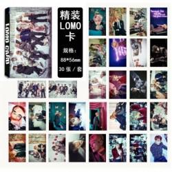 BTS 6. verzió - 88 x 56mm-es 30db-os fotó szett - LOMO kártya - KPOP - BTS - Bangtan Boys