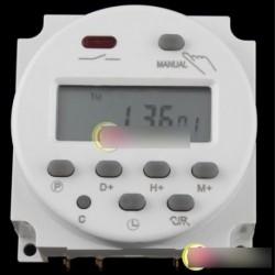 AC 220V-240V digitális LCD időzítő relé 16A 03