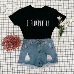 XL-es - Fekete I PURPLE U feliratos póló - KPOP - BTS - Bangtan Boys