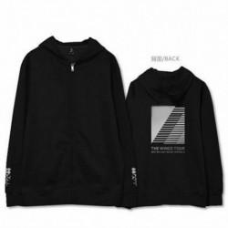 XL - Kpop BTS Bangtan Boys cipzáras kapucnis pulóver