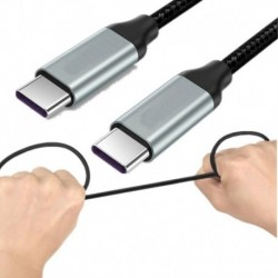 2PACK / PCS - 2Pack C-típusú USB-C 3.1 töltőkábel dugó-dugó MacBook Super Speed 3A-hoz