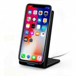 Fekete (15W) - 20 W-os gyors vezeték nélküli töltőállvány Qi töltő dokkoló kábellel Samsung és iPhone