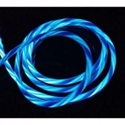 Mikro Android kék - Áramló LED világít USB szinkron töltő adatkábel töltőkábel C típusú telefonhoz