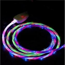 C típus Színes - Áramló LED világít USB szinkron töltő adatkábel töltőkábel C típusú telefonhoz