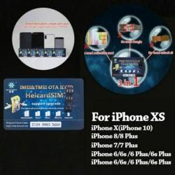 Nincs szín - 2019 új Nano-SIM feloldó Heicard Sim kártya chip iPhone XR XS Max iOS 12  13-hoz