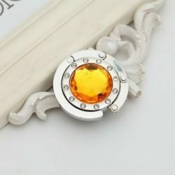 Sárga - 13 színű kristály hordozható összecsukható asztal erszényes táska akasztós akasztótartó kézitáska