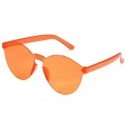 Narancs szeletek - Candy átlátszó női napszemüveg szemüveg lencse műanyag színes férfi kerek darab