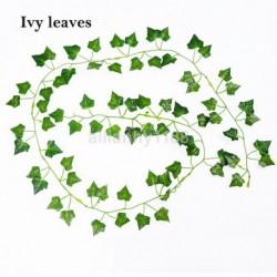 Ivy elmegy - 2M mesterséges borostyánlevél füzér zöld növény műanyag lombozat otthoni kerti dekoráció