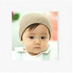 Khaki - Baby Cap Beanie Boys Girls tipegő csecsemő gyermekek pamut puha aranyos unisex kalap