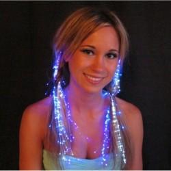 Nincs szín - Száloptikás hajdekorációs fények LED Glow Glowbys jelmezklipek Glowby Rave