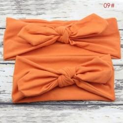 narancs - 2db Anya és gyerek kislány elasztikus íj csomózású turbán hajszalag fejpánt
