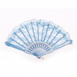 Blau - Dame Eleganter kínai kinézet Flgel-Chun-Art-Tanzen-faltender Spitze-Handfächer