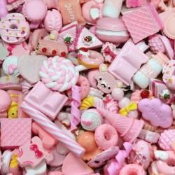 * 1 - 10db Dolls Lovely Mini Play játékélelmiszer torta keksz fánk miniatűr dekorációval