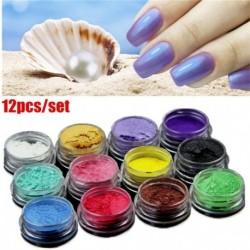 Nincs szín - 12db / készlet DIY ásványi csillámpor szappanfesték csillogó szappan színező gyöngypor