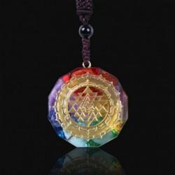 * 9 - Orgonite medál Sri Yantra nyaklánc szakrális geometria csakra energia nyaklánc