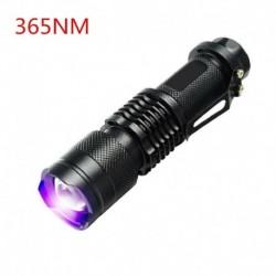 365nm - UV ultraibolya LED zseblámpa fekete fényű fény 395/365 nM ellenőrző lámpa zseblámpa