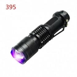 395nm - UV ultraibolya LED zseblámpa fekete fényű fény 395/365 nM ellenőrző lámpa zseblámpa