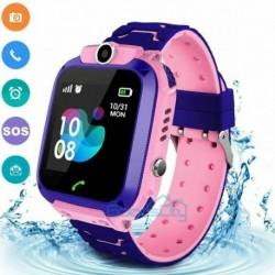 Rózsaszín (nem vízálló) - Vízálló gyerekek intelligens órája elveszett, biztonságos GPS Tracker SOS hívás Android