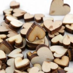 Nincs szín - 100db DIY rusztikus fa fa szerelmes szív esküvői asztal szétszórt dekorációs kézműves