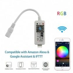 RGB - Vezeték nélküli intelligens WiFi LED RGB fénysávos zenevezérlő az Alexa Google Home számára