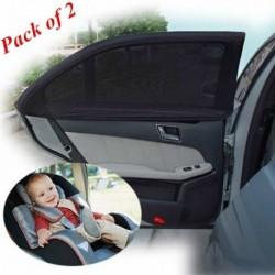 Nincs szín - 2 x autó oldalsó hátsó ablak napellenző árnyékoló háló fedél árnyékoló napernyő UV védő