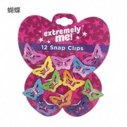 Pillangó-12Db - Kids BB Clips Candy Asymptotic Color Girls Children Glitter 12PCS / Set Hair Clips