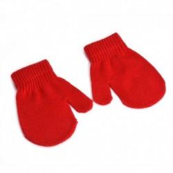 Piros - Kesztyű ujjatlan kesztyű csecsemők gyerekek kisgyermekek kisgyermek lányok fiúk téli meleg Egyesült