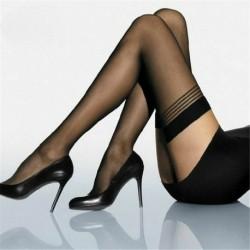 Fekete * 2 - Szexi női harisnya divat csipke felső Stay Up comb magas harisnya harisnyanadrág