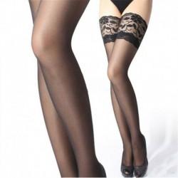 Fekete * 1 - Női divat szexi csipke felső Stay Up comb magas harisnya harisnya harisnyanadrág forró