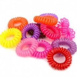 12PCS gyöngyházfényű színekGirl E ... - 100Pcs női lányok hajpánt nyakkendők kötélgyűrű rugalmas hajpánt lófarok