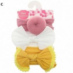 C - 3db gyerek kislány kisgyermek íj hajszalag fejpánt nyújtó turbán csomó fejpakolás