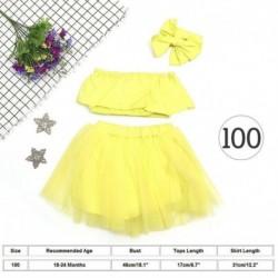 100cmďĽˆ18-24hónapďĽ ‰ - Aranyos újszülött csecsemő kislány ruhák váll tetején   Tutu Tulle szoknya