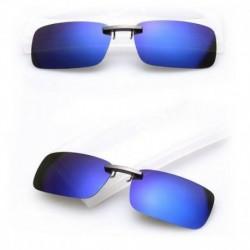 Mélykék - Polarizált vezetési UV 400 Night Vision Clip-on Flip-up lencsés napszemüveg szemüveg