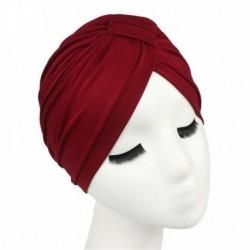 Bor vörös - Női indiai nyújtható kemo rakott turbán sapka fejfedő fejpakolás Hidzsáb sapka