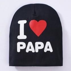 Fekete & PAPA - Új kisgyermek gyerek baba fiú lány csecsemő puha pamut téli meleg sapka sapka CA