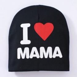 Fekete & MAMA - Új kisgyermek gyerek baba fiú lány csecsemő puha pamut téli meleg sapka sapka CA