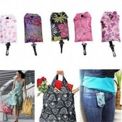 Nincs szín - Élelmiszerbolt tároló kézitáska összecsukható kulcstartó tasak újrafelhasználható bevásárló táska