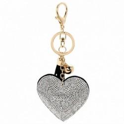 Ezüst - Szív kristály strassz medál kulcstartó táska kézitáska kulcstartó kulcstartó